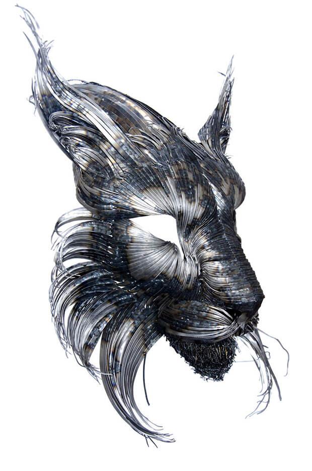 Маски животных из стали