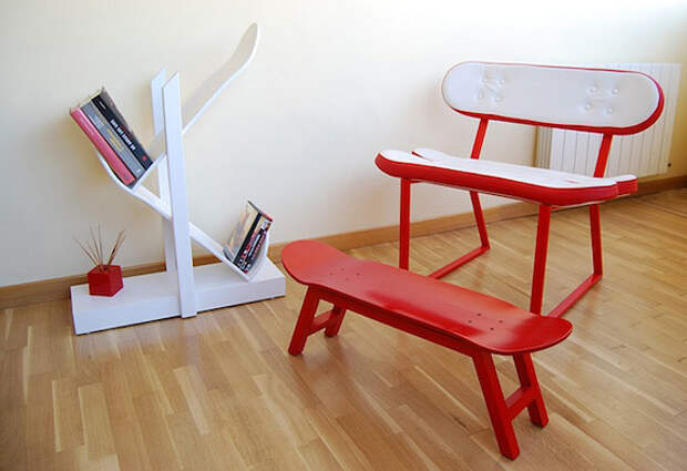 Skate-Home: мебель из скейтбордов