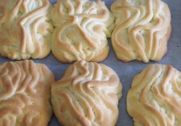 печенье хризантема рецепт с фото