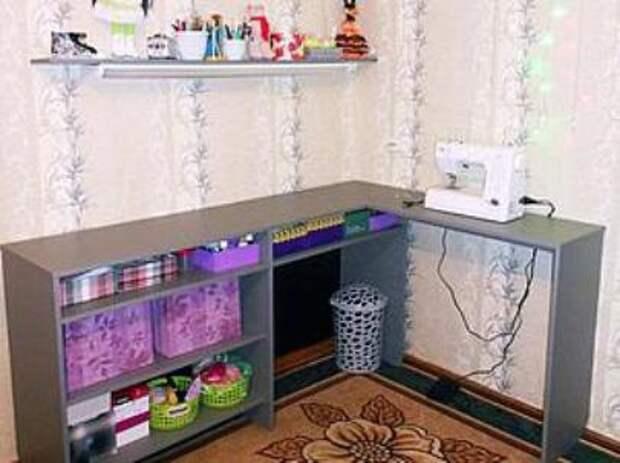 Швейное место из шкафа (Diy)
