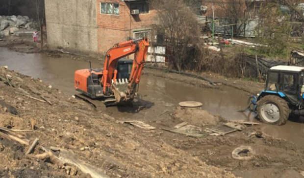 ВРостове устранили аварию, превратившую улицу Малиновского вреку