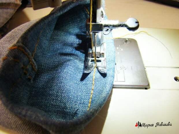 Подшивание низа на машинке