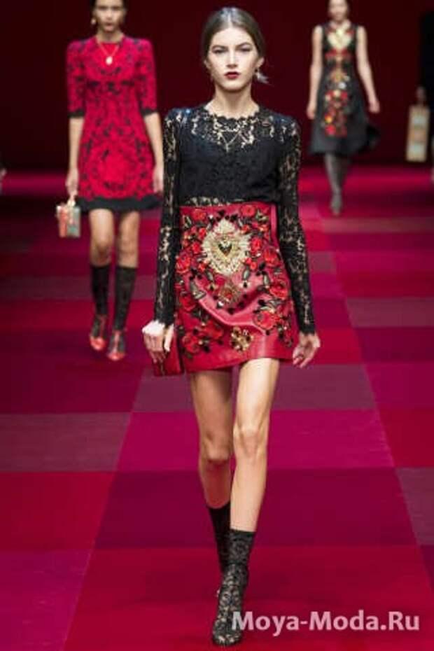 Модные юбки весна-лето 2015 Dolce and Gabbana