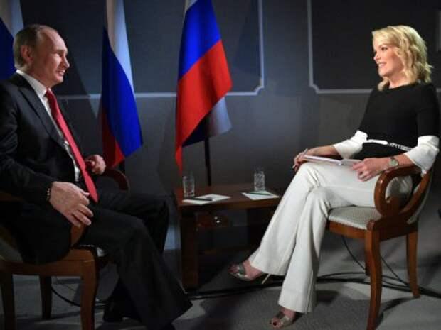 Меган Келли с Владимиром Путиным