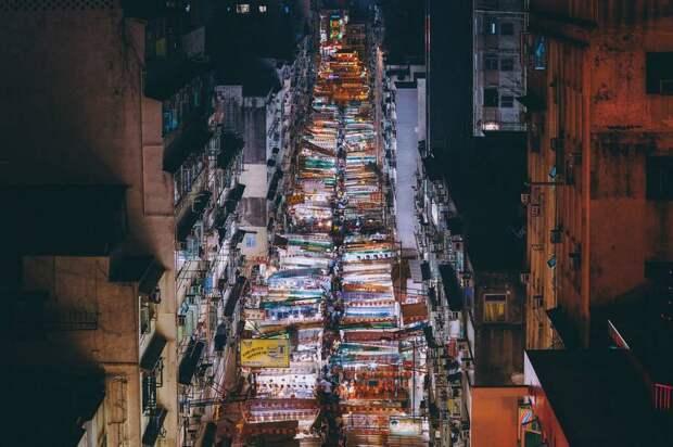 Огни ночного Гонконга