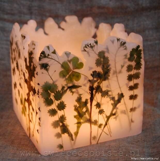 цветочные свечи ручной работы (11) (696x700, 314Kb)