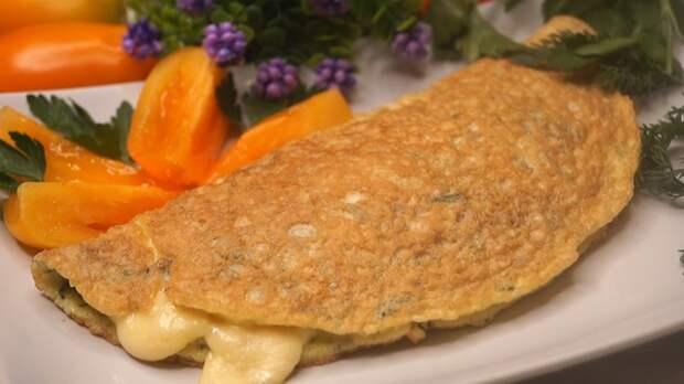 Овсяный блин на завтрак с сыром Овсяноблин, Завтрак, Рецепт, Видео рецепт, Видео