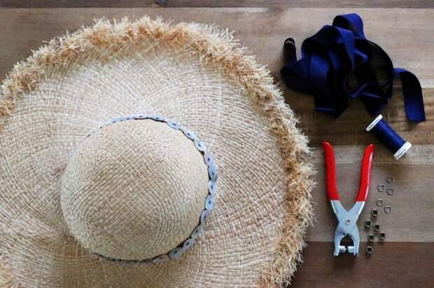переделка летней соломенной шляпки