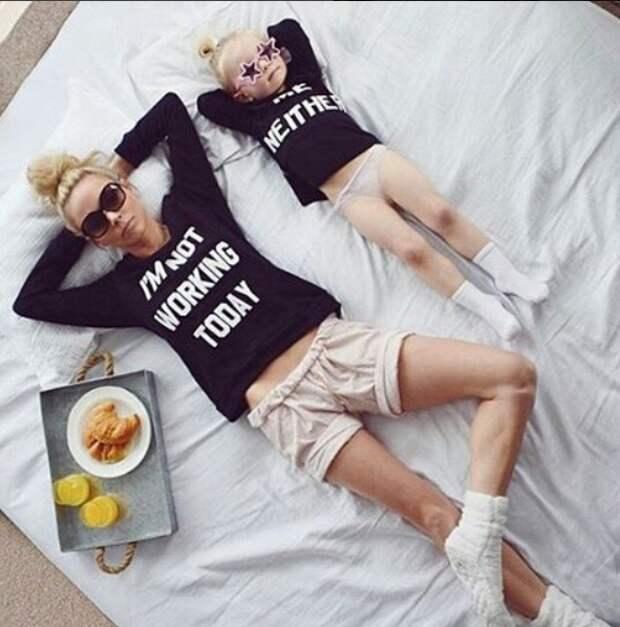 Парные футболки с мамой