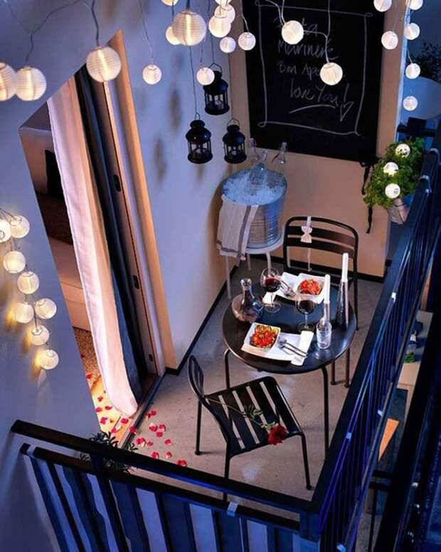 А также он может стать прекрасным местом для романтического ужина дизайн, креатив, своими руками