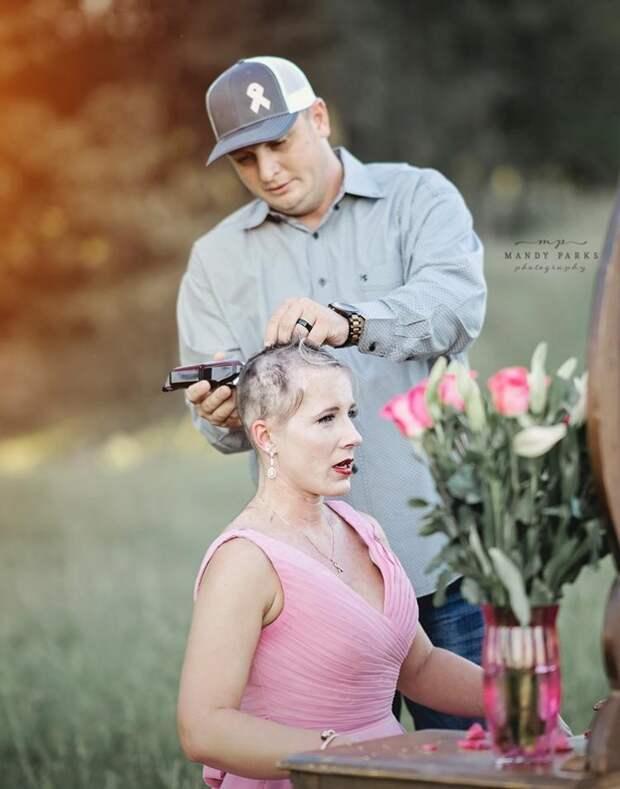 Трогательная фотосессия пары, которая делает первый шаг в борьбе со злым недугом