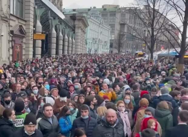 В крупных городах России прошли несогласованные с властями акции протеста