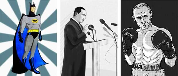 City A.M.: Путина ко дню рождения превратили в Бэтмена и Ганди