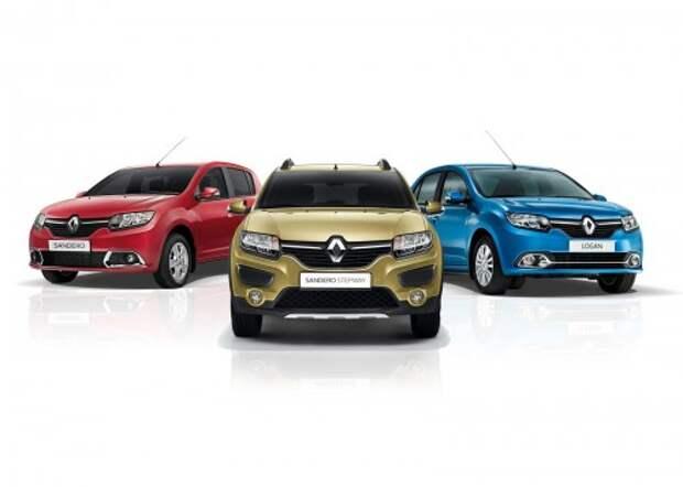 Renault Sandero, Sandero Stepway и Logan
