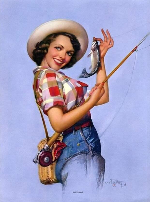 Опытная женщина, как рыбак, ловит мужчин на такие приманки, как макияж, мини и декольте. Улыбнемся)))
