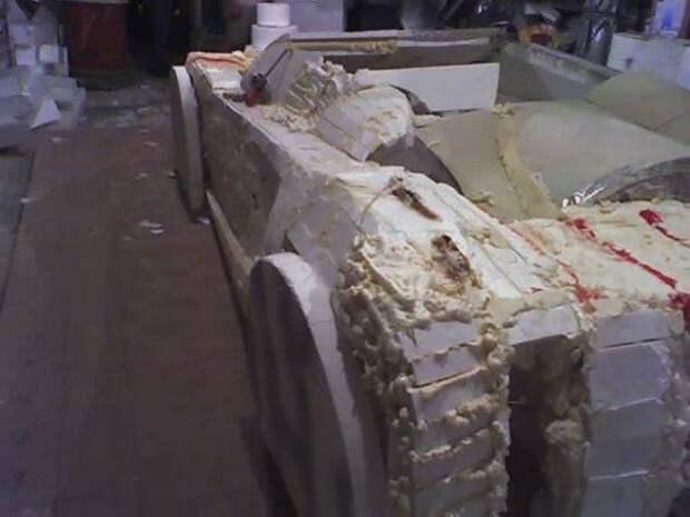 Машина мечты из пенопласта машины, переделка, своими руками