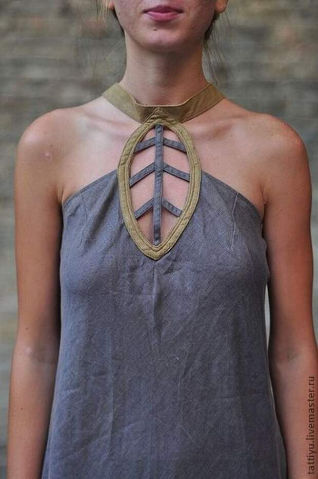 Необычный воротник на платье (и спинка)