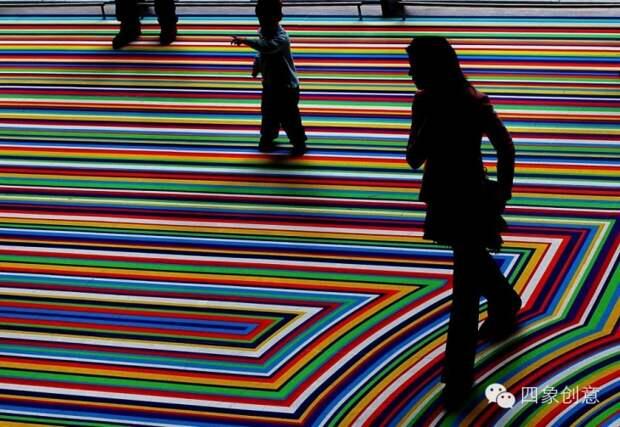 Jam Lambie, художник из Шотландии, делает крутые полы - из  cкотча