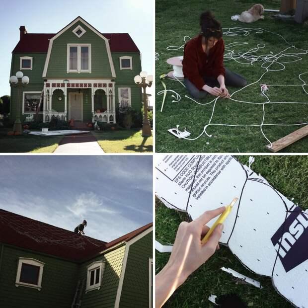 Художница превратила свой дом в пряничный домик