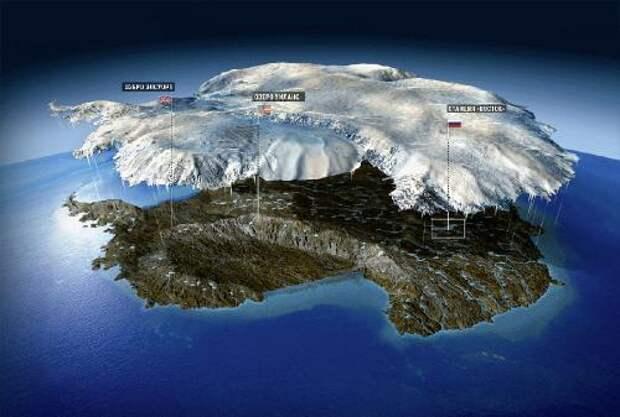 Озеро Уиланс. Британские и американские исследователи собирались с помощью бурения достичь поверхности этих двух подледных озер в 2012 году. Проекты пока законсервированы