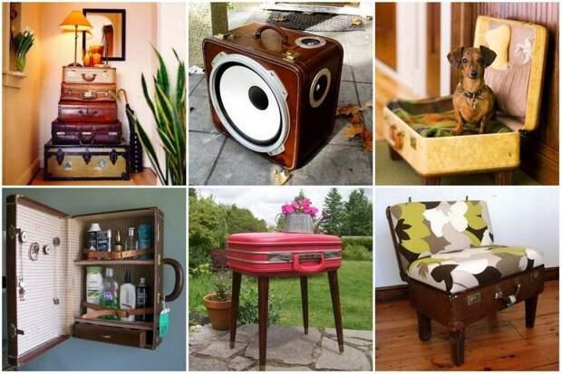 Делаем мебель из старых чемоданов своими руками