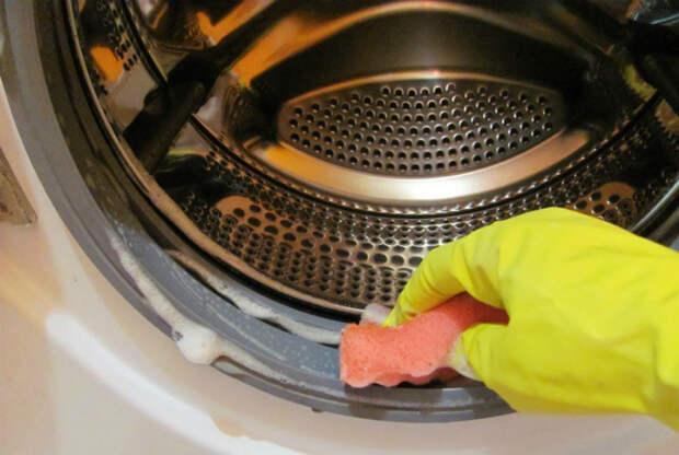 Чистка барабана и резинок стиральной машины.