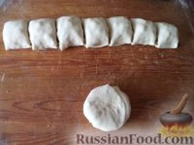 Фото приготовления рецепта: Лепешки с зеленым луком - шаг №8