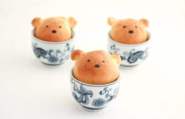 Булочки-мишки в чашке (Diy)
