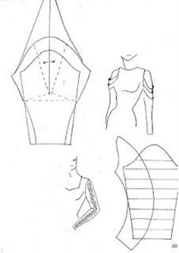 Моделирование рукавов с водопадом складок