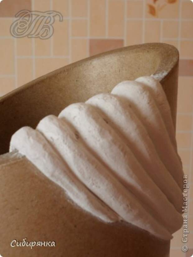 Добрый день, Страна Мастеров!!! Как и обещала, покажу некоторые промежуточные фотографии  процесса изготовления напольной вазы с африканскими мотивами. . Фото 7