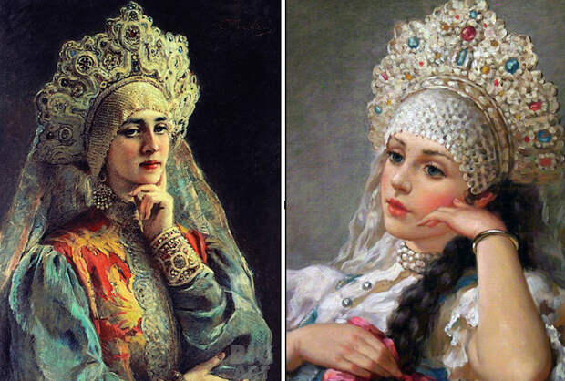 Как на Руси появился кокошник: Головной убор русских красавиц