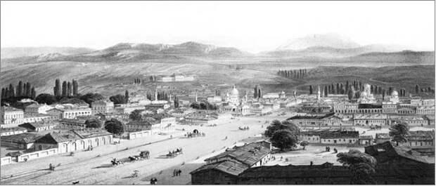 Панорама центральной части город Симферополь в бытность Генерал-губернатора Григория Потемкина-Таврического