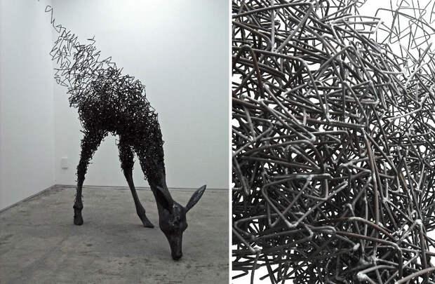 Красивейшие скульптуры из скрученной проволоки