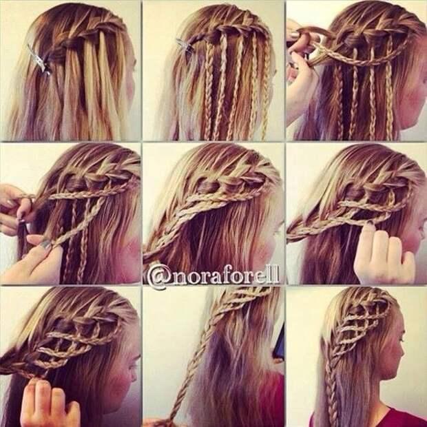 Очень красивое плетение на волосах