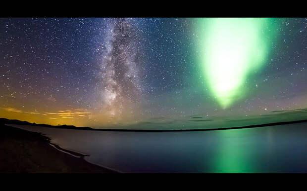 Млечный Путь и Северное полярное сияние