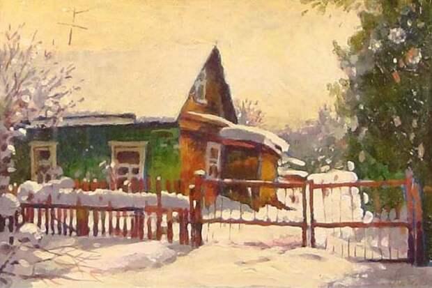 Андрианов Андрей. Снег выпал только в декабре в деревне Исаково