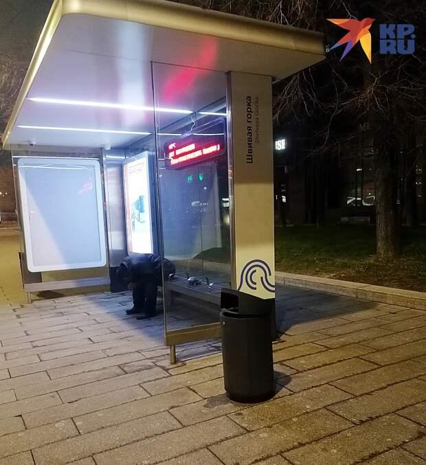 Этот строитель из Киргизии предпочел хостелу скамейку Фото: Владимир ПЕРЕКРЕСТ