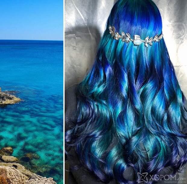 Парикмахер окрашивает волосы своих клиенток, вдохновляясь красками природы