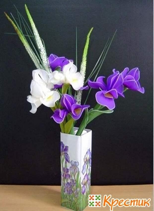 Цветы из капрона ирис