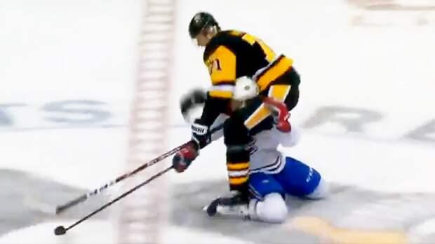 Малкин оседлал канадца иприземлился нанего лезвием конька. Русскую звезду дисквалифицируют?