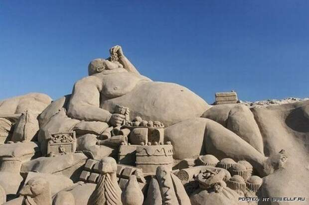Песочные скульптуры (20 фото)