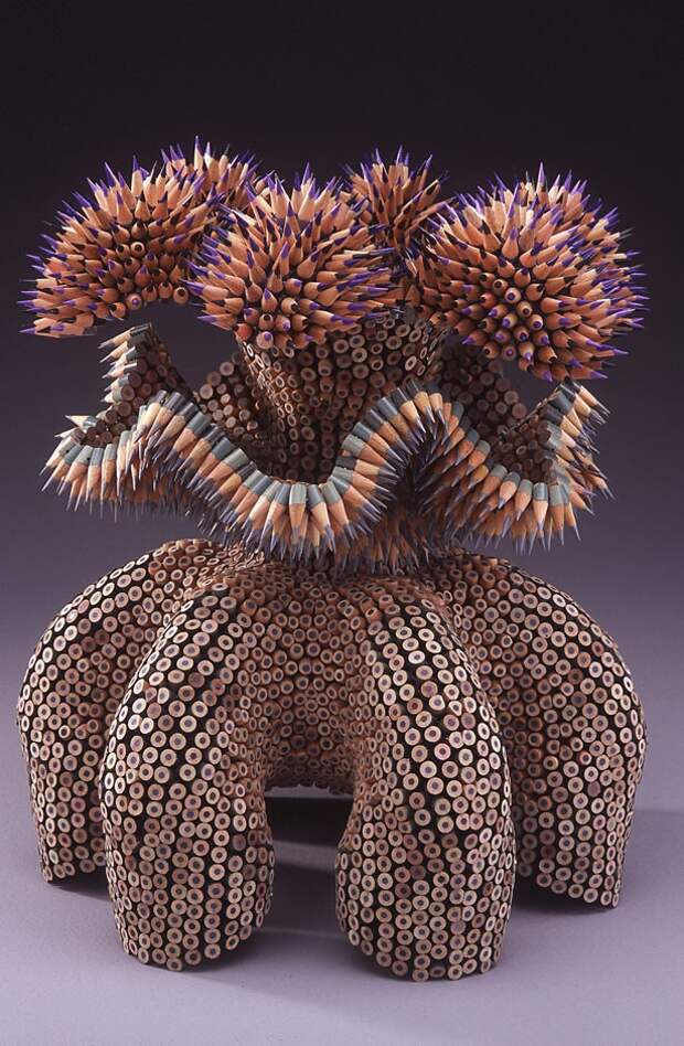 Скульптуры из цветных карандашей карандаш, скульптура