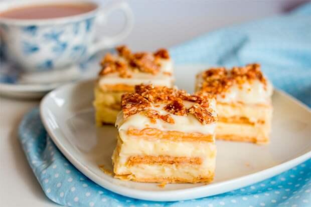 Творожный тортик из печенья без выпечки за считанные минуты