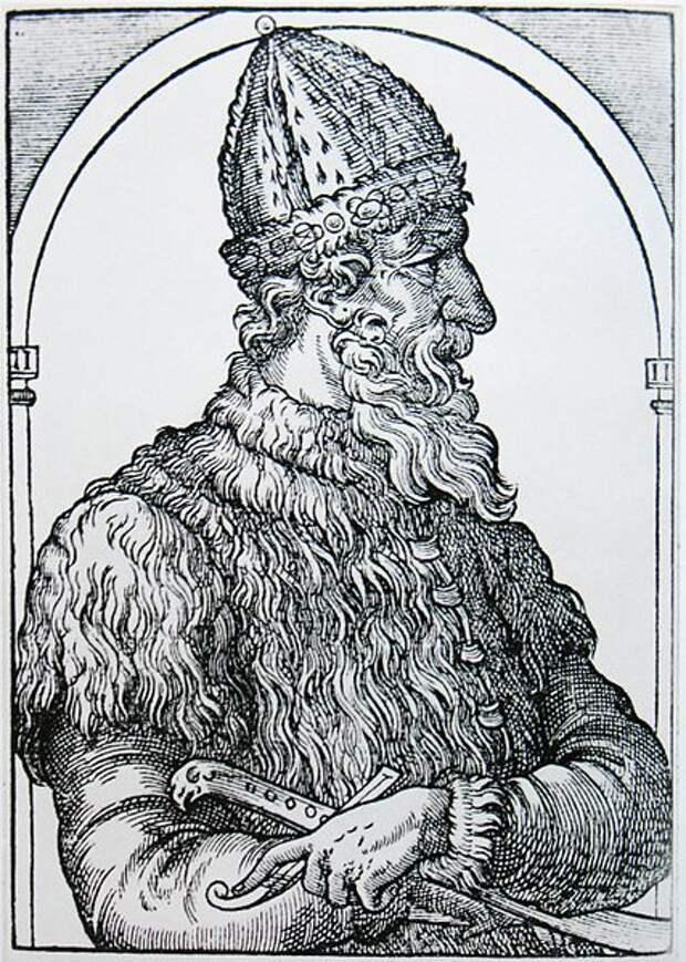 Иван III Васильевич. Гравюра из «Космографии» А. Теве, 1575 год.jpg
