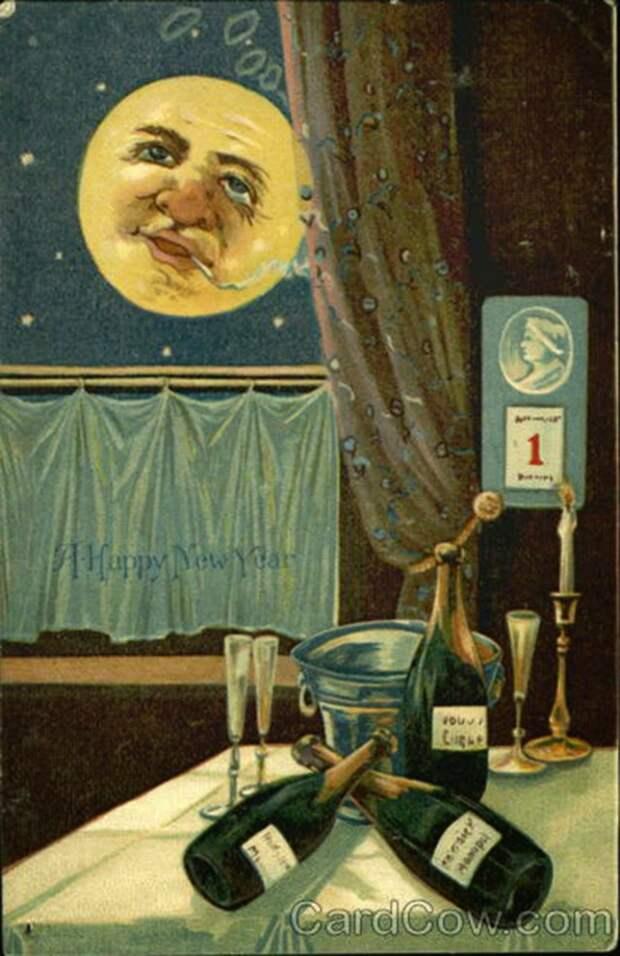 Странные старинные новогодние открытки