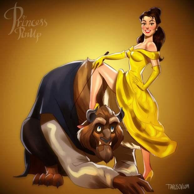 Диснеевские принцессы и злодейки в стиле пин-ап
