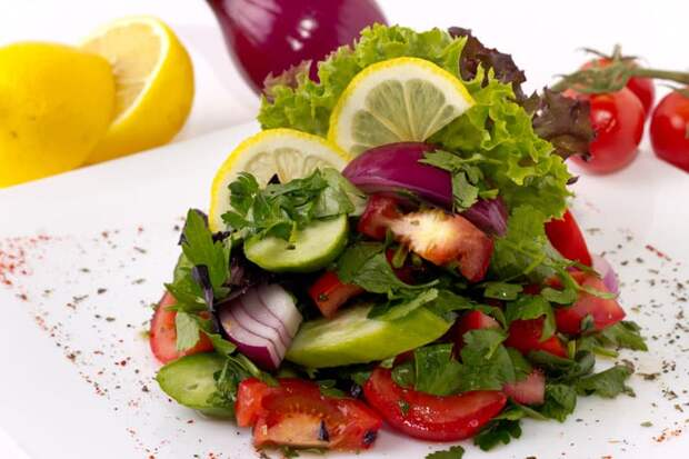 Салат Чабан. Отличное дополнение к шашлыкам или жареному мясу 2