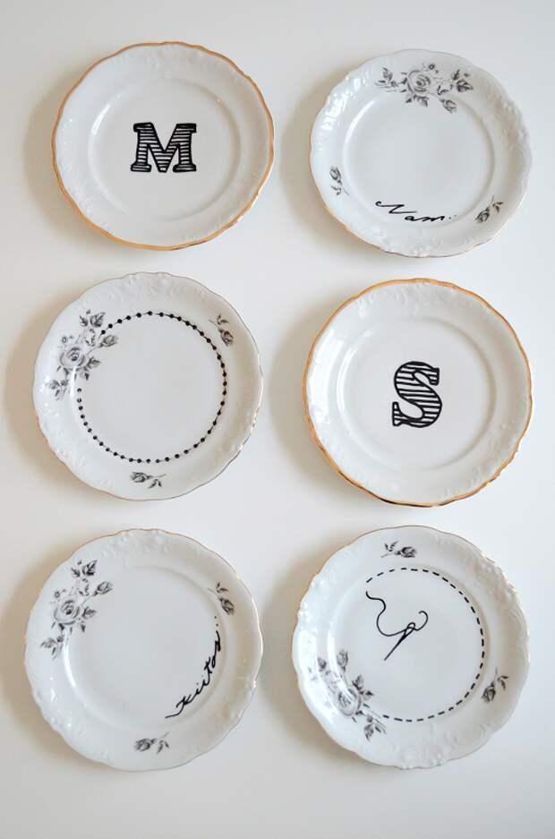 Узоры на тарелках