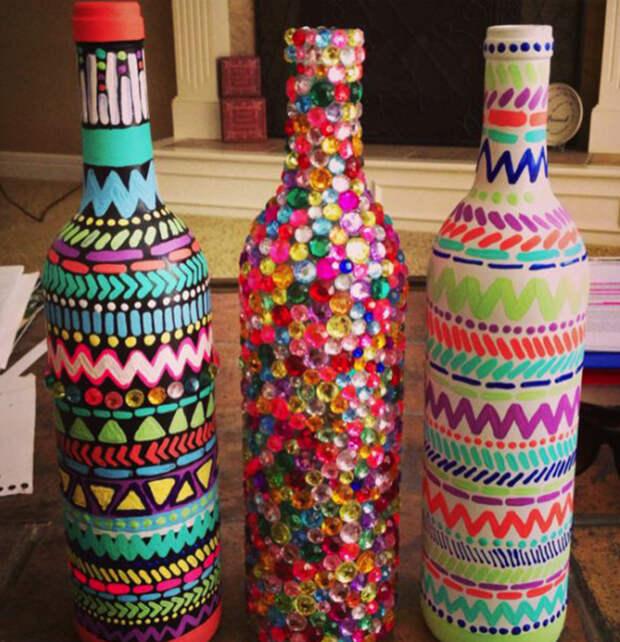 декор из бутылок