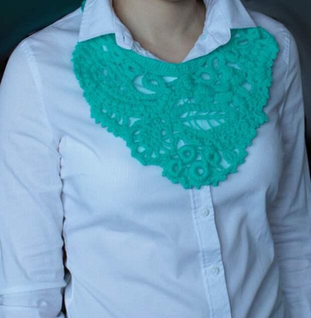 Вязанные украшения на шею